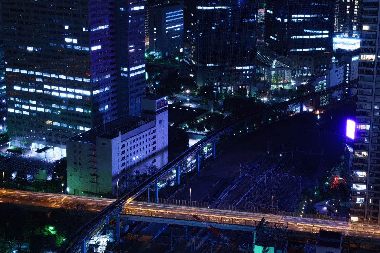 三脚使って世界貿易センタービルの夜景を撮ってみた