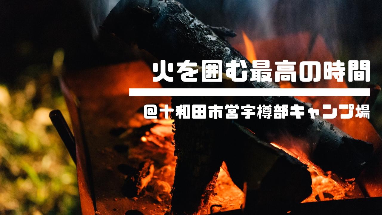 十和田市営宇樽部キャンプ場で湖畔キャンプ!皆で火を囲むって最高の贅沢。